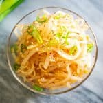 Korean bean sprout salad in bowl
