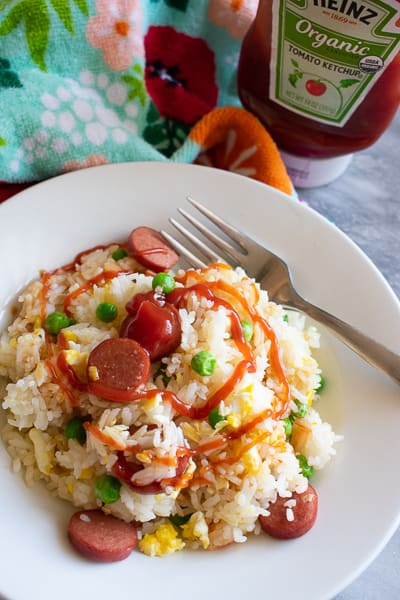Easy, One Pan Hot Dog Fried Rie