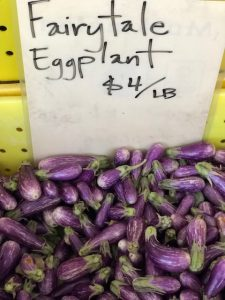fairy tale eggplant at the farmer's market