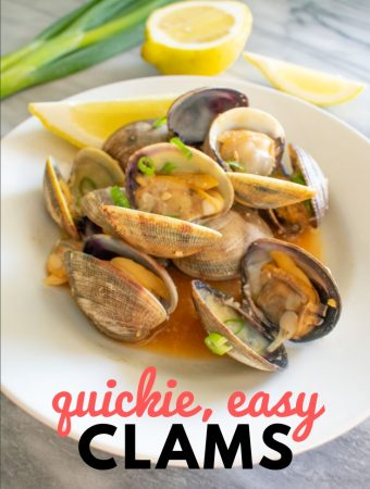 Quickie Miso Mirin Clams pinterest image