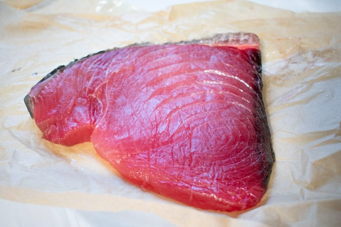 blue fin tuna loin