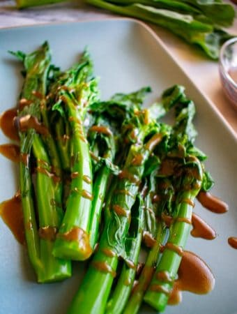 chilled gailan spears with oyster sauce