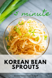 Korean Bean Sprout pinterest image