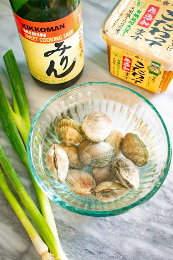 miso clam ingredients