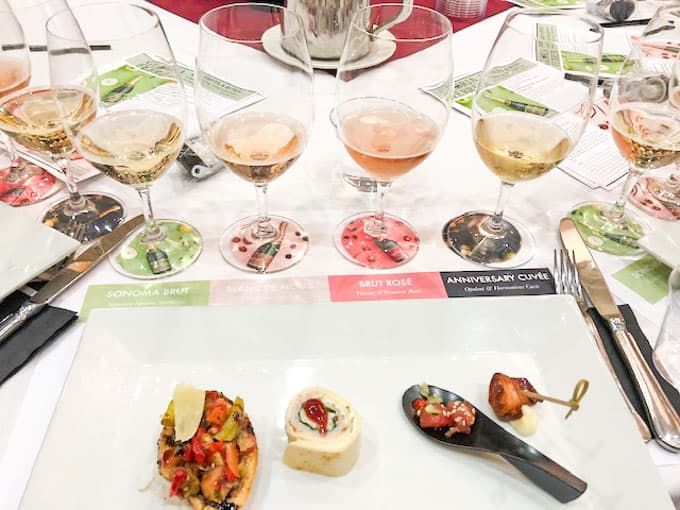 gloria ferrer sparkling wine pairing with food