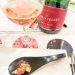 gloria ferrer brut rose paired with tuna poke