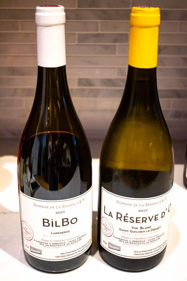 2 bottles of french biodynamic wines