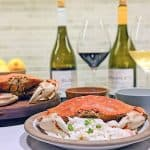 french biodynamic wines with crab