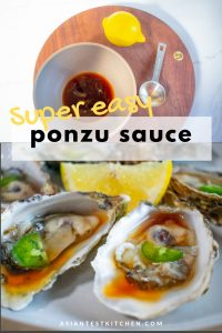 Ponzu sauce for oysters pinterest image