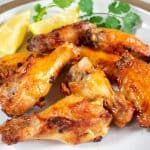 Asian Lemon Chicken Wings made in an air fryer
