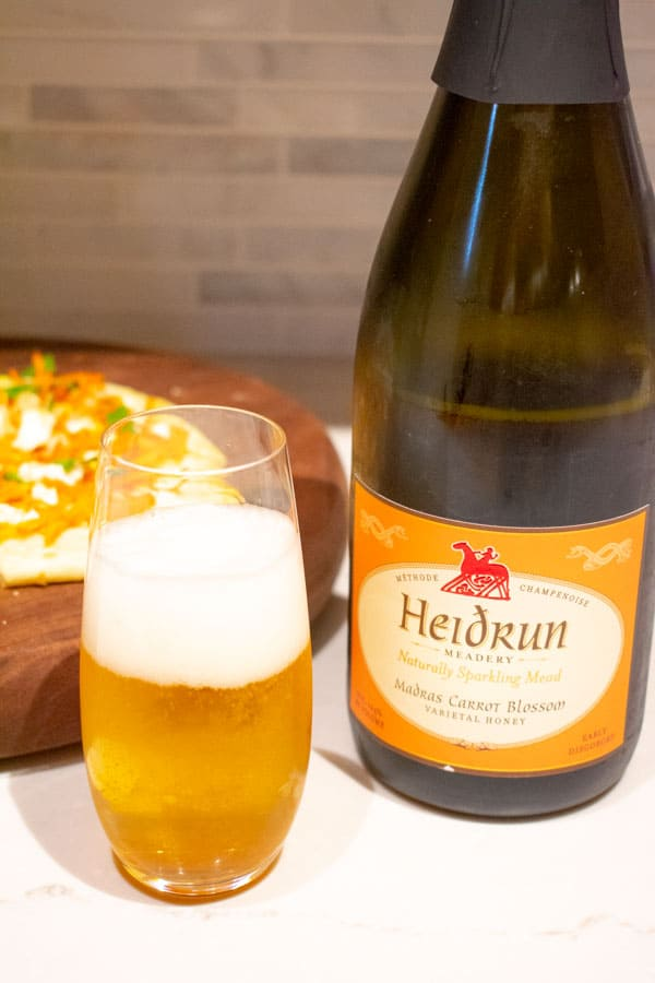 Heidrun sparkling mead madras carrot blossom bottle