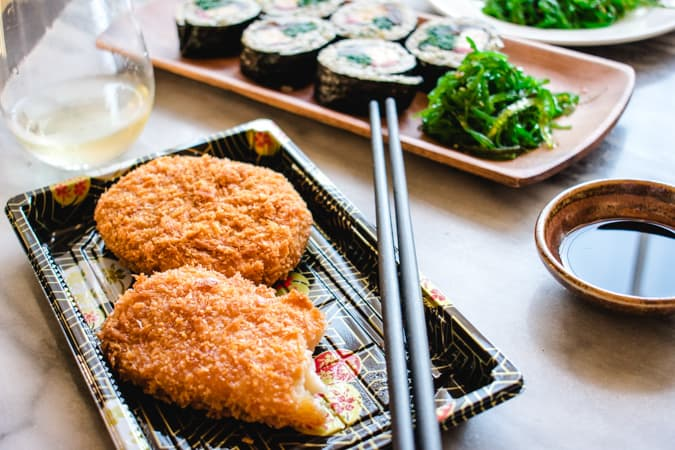 Japanese croquettes to pair with chablis wine