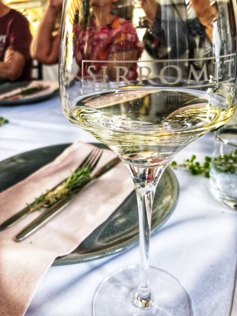 Sirromet wine glass and table setting
