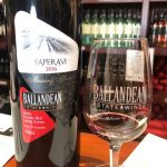 Bottle and glass of Saperavi wine from Ballandean Estate Wines
