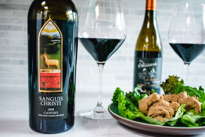 Sanguis Christi Cahors wine with Chinese mock duck