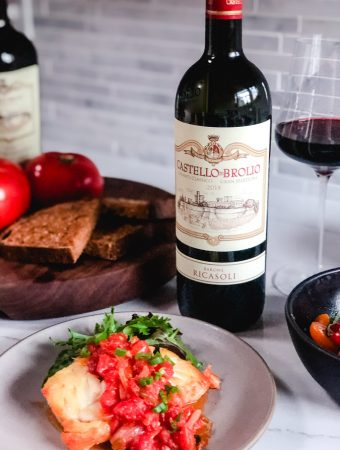 Ricasoli Chianti with Vietnamese fried fish