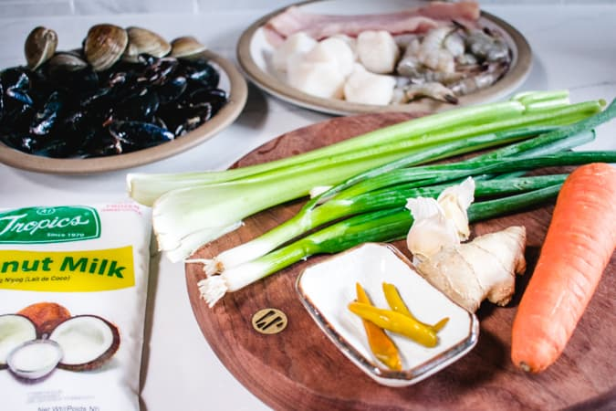 Ingredients for Filipino Cioppino