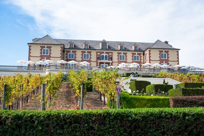 The French Chateau at Domaine Carneros in Napa Valley