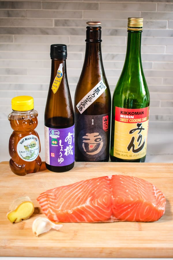 Ingredients for Japanese salmon