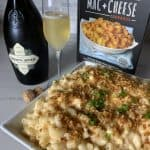sparkling wine, mac'n cheese cookbook, and mach and cheese