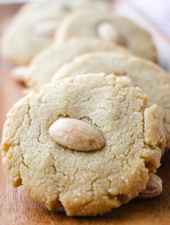 row of chinese almond cookies