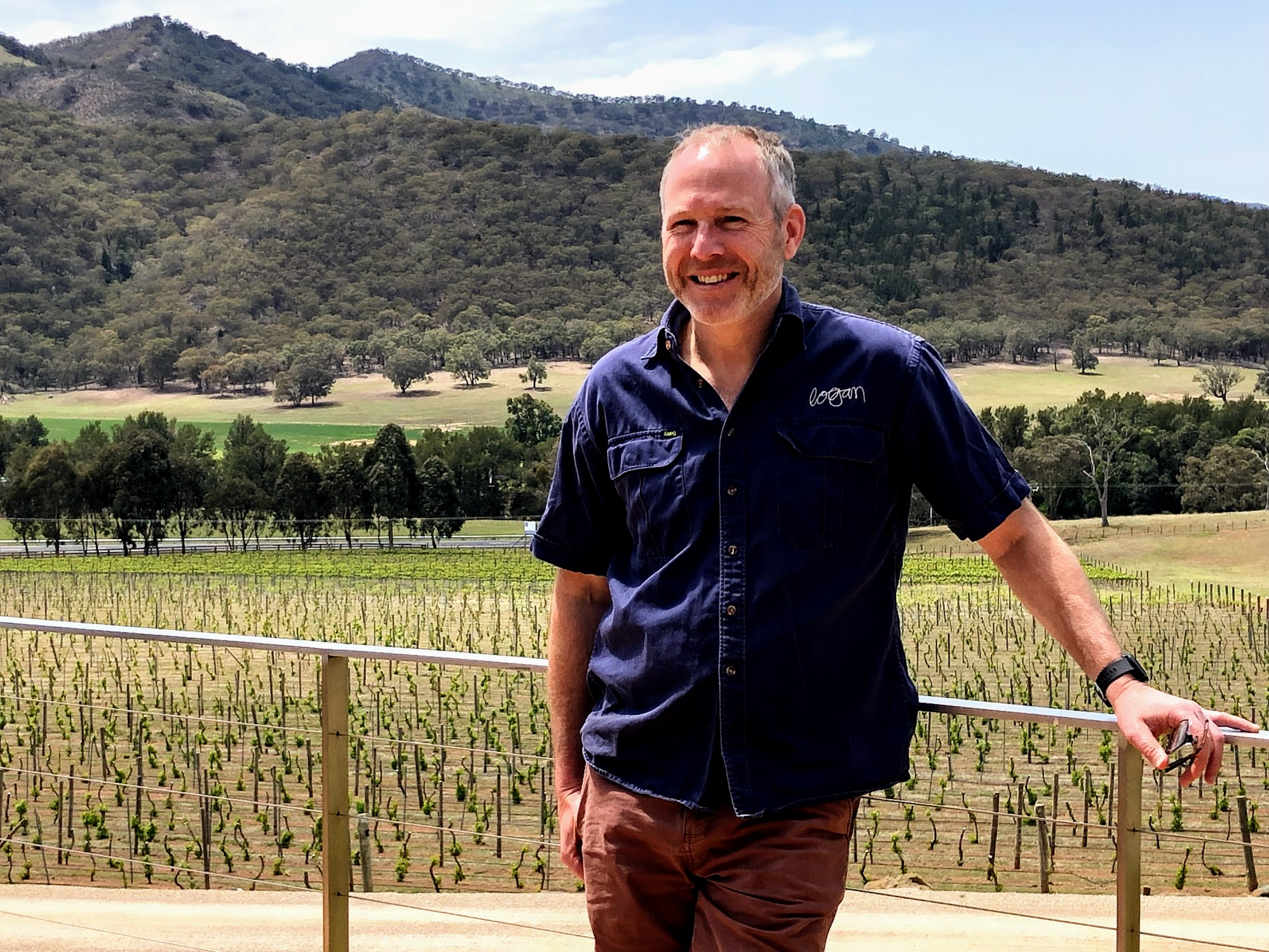 Peter Logan winemaker at Logan Wines cellar door