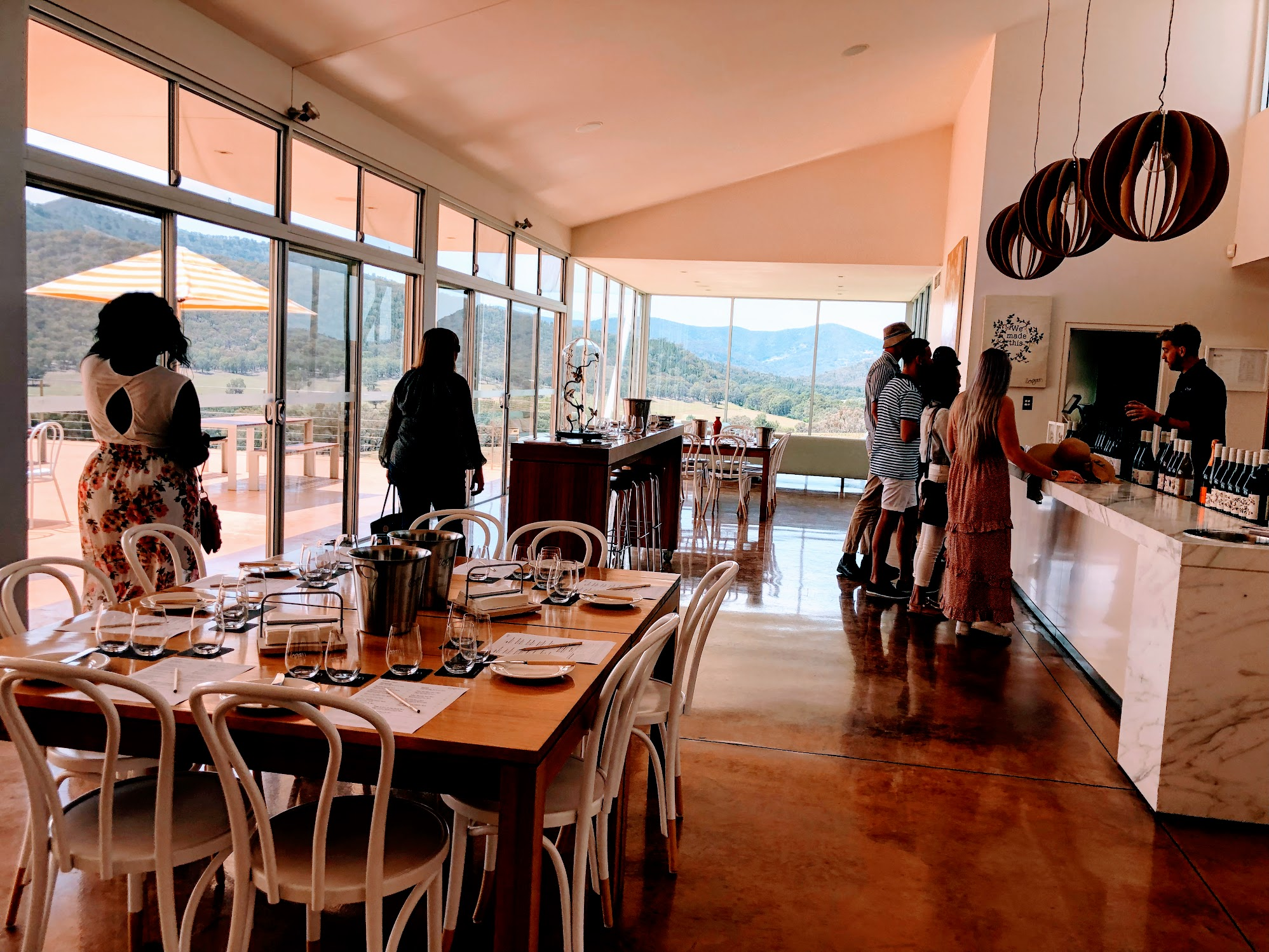 Inside of the Logan Wines tasting room