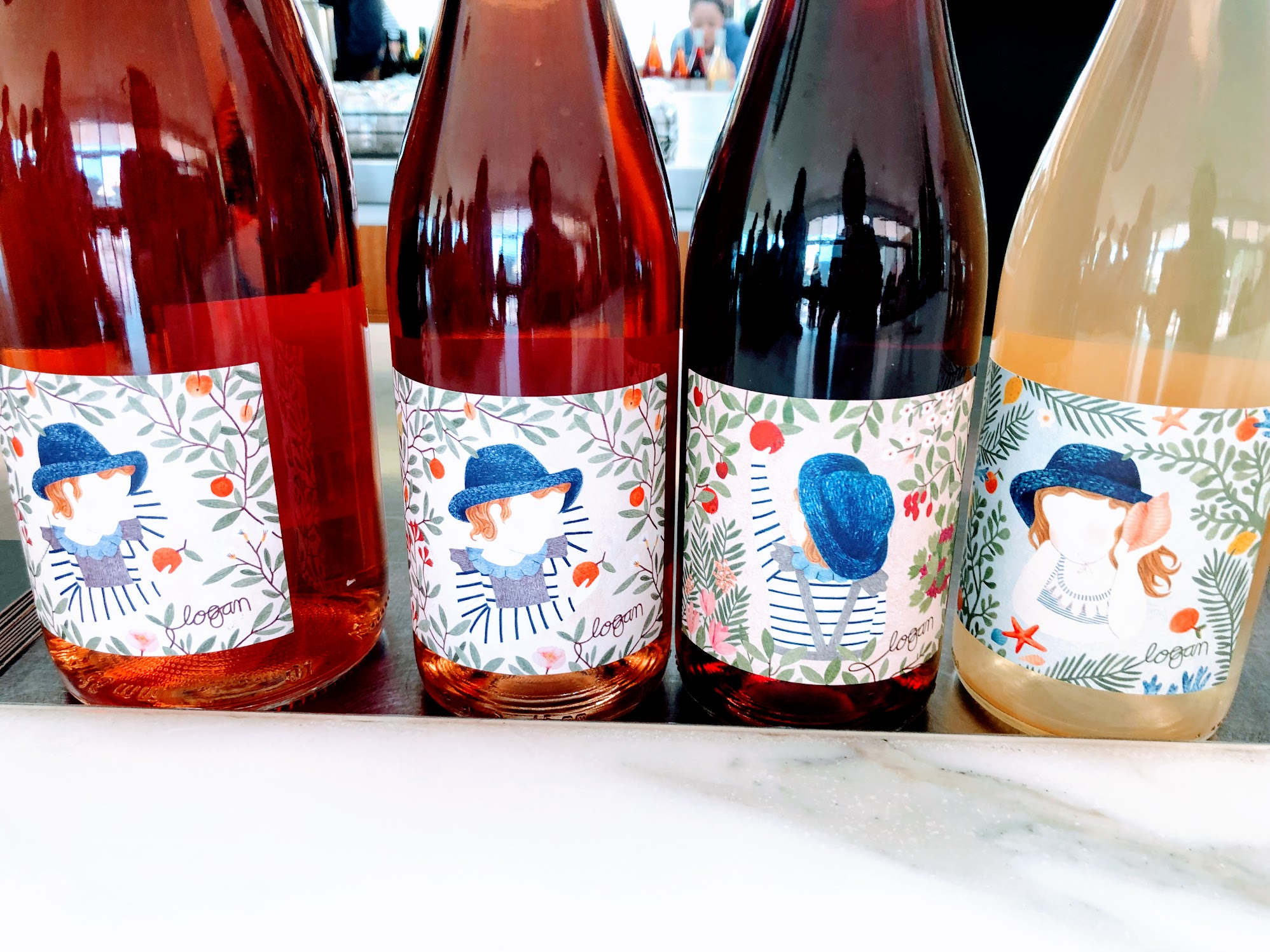 4 bottles of Clementine orange wines from Logan wines