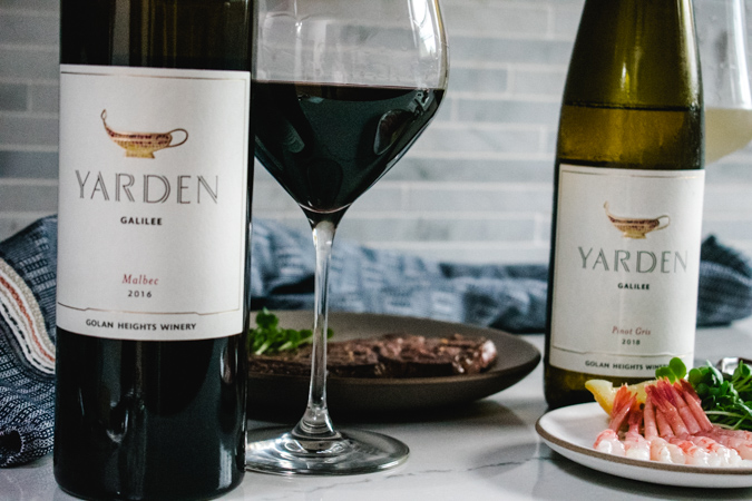 Yarden Wines malbec and pinot gris with Japanese food