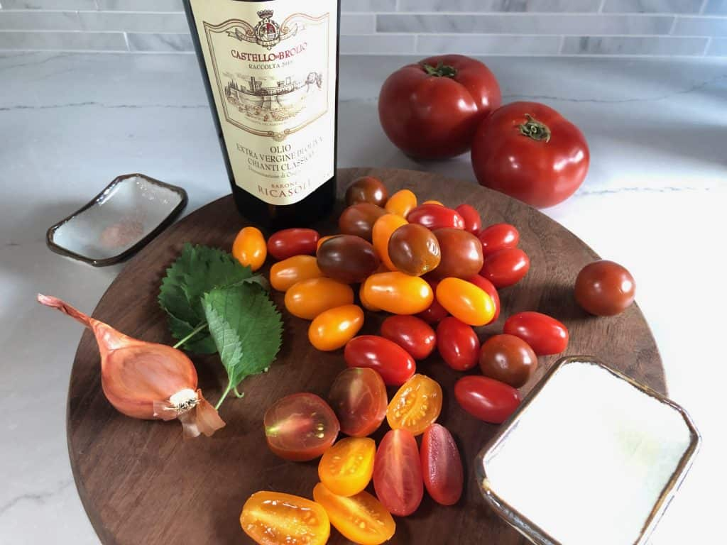 ingredients for asian tomato salad
