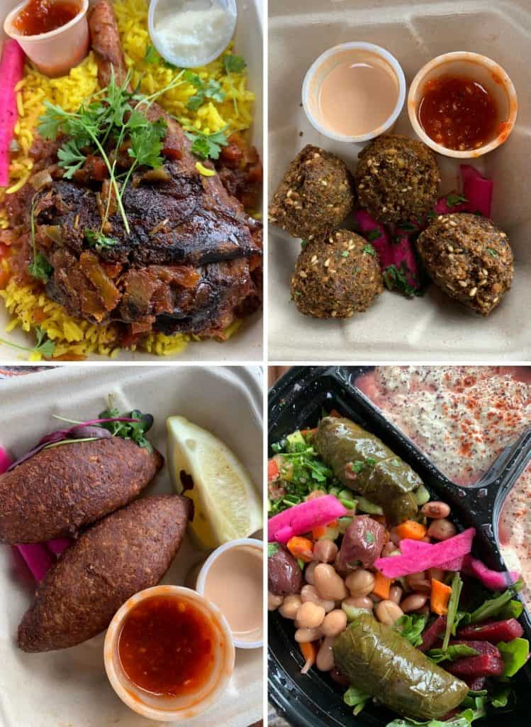 4 pictures of Middle Eastern food